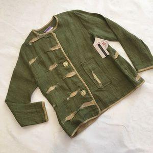 Mary Ozbolt Storer Art to Wear Linen Jacket NWT